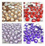 1000 pcs 4 Colors 3mm 5mm mixed Rhinestones Round Flatback 14-Facet 3 --- lovekitty