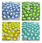 1000 pcs 4 Colors 3mm 5mm mixed Rhinestones Round Flatback 14-Facet  2 --- lovekitty