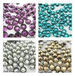 1000 pcs 4 Colors 3mm 5mm mixed Rhinestones Round Flatback 14-Facet 5 --- lovekitty