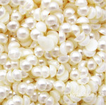 Cream  --- 14mm --- 25 pieces flat back pearl cabochons --- lovekitty