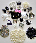 DIY 3D Hello Kitty Bling Resin Flat back Kawaii Cabochons Deco Kit Z72 --- lovekitty