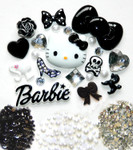 DIY 3D Hello Kitty Bling Resin Flat back Kawaii Cabochons Deco Kit Z204--- lovekitty