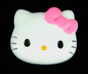 Pink Bow --- 1 piece Large Hello Kitty Face Flatback Resin Kawaii Cabochon