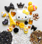 DIY 3D Hello Kitty Bling Resin Flat back Kawaii Cabochons Deco Kit Z223 --- www.lovekittybling.com
