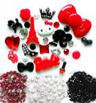 DIY 3D Hello Kitty Bling Resin Flat back Kawaii Cabochons Deco Kit Z227 --- www.lovekittybling.com