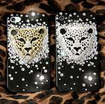 DIY  3D Silver Leopard  Bling Bling Resin Flat back Kawaii Cabochons Deco Kit Z236 --- www.lovekittybling.com