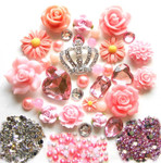 DIY 3D Rhienstone Crown Bling Bling Flatback Resin Cabochons Kawaii Deco Kit / Set Z163 --- lovekitty