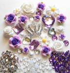 DIY 3D Rhienstone Crown Bling Bling Flatback Resin Cabochons Kawaii Deco Kit / Set Z148 --- by lovekitty