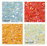 4mm --- 400 pcs --- Light blue,Red,Orange,Light Green Mixed Colors AB Jelly Flat back Rhinestones  --- lovekitty