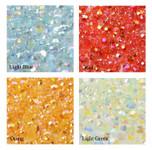 4mm --- 400 pcs --- Light blue,Red,Orange,Light Green Mixed Colors AB Jelly Flat back Rhinestones  --- lovekitty