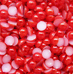 Red --- 5mm --- 1000 pieces flat back pearl cabochons --- lovekitty