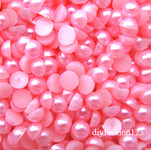 Rose Pink --- 5mm --- 1000 pieces flat back pearl cabochons --- lovekitty