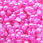 Fuchsia   --- 5mm --- 1000 pieces flat back pearl cabochons --- lovekitty
