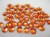Orange  --- 3mm & 5mm Mixed 1000 pcs ---Rhinestones Round Flat back 14-facet ( High Quality ) --- lovekitty