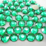 Green  --- 3mm & 5mm Mixed 1000 pcs --- Rhinestones Round Flat back 14-facet ( High Quality ) --- lovekitty