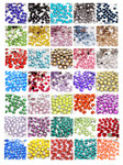 4mm  --- 500 pcs --- Rhinestones Flat Back Round  --- love kitty bling