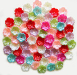 30 Pcs Mixed Colors Flowers Flatback Pearl Cabochon -- by lovekitty