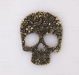 1 piece Antique Brass Tone Skull  -- by love kitty bling