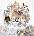 DIY 3D Rhinestones Bear Bling Bling Flat back Kawaii Cabochons Deco Kit / Set Z312 -- lovekitty