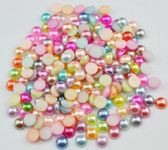 6mm 200 pcs --- Mixed Colors flat back pearl cabochons --- lovekittybling