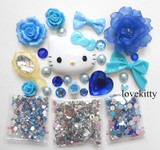 DIY 3D Hello Kitty Bling Resin Flat back Kawaii Cabochons Deco Kit Z342 --- lovekitty