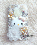 DIY 3D Hello Kitty Bling Resin Flat back Kawaii Cabochons Deco Kit Z337  ( not a finished product )--- lovekitty