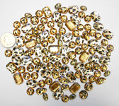 100 pcs --- Sew-On Gems -- Animal Gems-- Mixed Shapes Flat Back ( Mixed Sizes has thread holes ) ---- love kitty bling