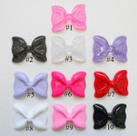 1 piece Large Size Hello Kitty Bow Japanese Kawaii Flat Back Resin Cabochons B0004 -- lovekitty