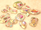 AB Clear --- 10 pcs Mixed Shapes lot Cut Back Crystal Glass Gems  ---- lovekittybling