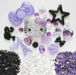 DIY 3D Blinged out Hello Kitty Kawaii Cabochons Deco Kit / Set 361 -- lovekitty