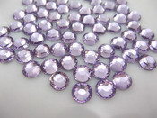 Lavender  --- 6mm  50pcs --- Rhinestones Round Flat back 14-facet ( High Quality ) --- lovekitty