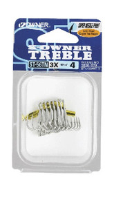 Owner ST-56 Tinned Treble Hooks