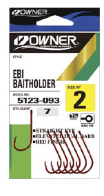 Owner EBI Baitholder RED Hook (Pocket Pack)