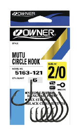 Owner MUTU Circle Hooks (Pocket Pack)