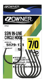 Owner SSW In Line Circle Hooks (Pocket Pack)