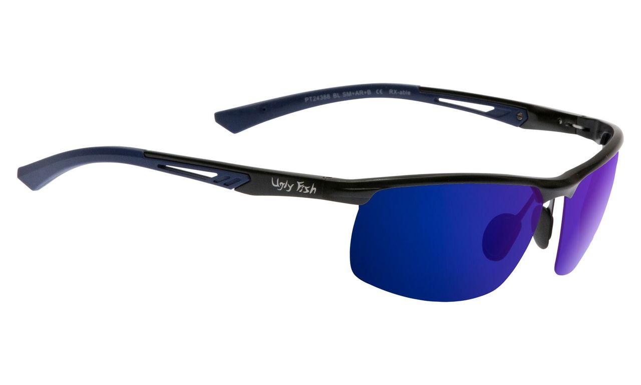 127bfbaad45b Ugly Fish Triacetate(TAC) Polarised Sunglasses PT24388 Shiny Black  Aluminium Frame Blue Revo Lens. Price   139.95. Image 1