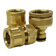 Holman 3 Piece Brass Hose Connector Set 12mm