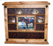 14 Buckle Display with Glass Front Great for Rodeo Awards and Barrel Racing Awards