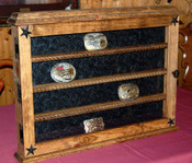 24 Buckle Trophy Buckle Shelf Great for Rodeo Awards and Barrel Racing Awards