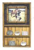 6 Buckle Display and Picture Frame Combo