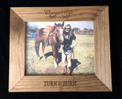 Cowgirl Up 8x10 Rustic Picture Frame