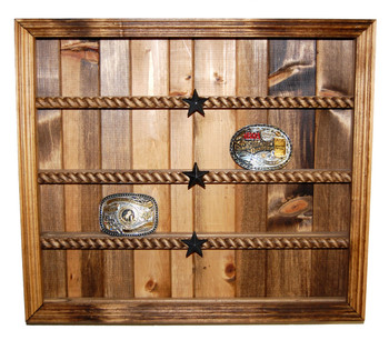 Plank Buckle Display Great for Rodeo Awards and Barrel Racing Awards
