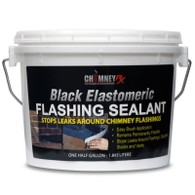 Chimney Black Elastomeric Flashing Sealant