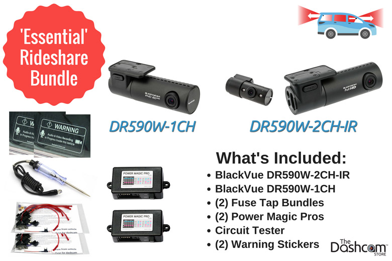 image: The best dashcam bundle for Uber or Lyft rideshare drivers | BlackVue  Essential Rideshare Bundle