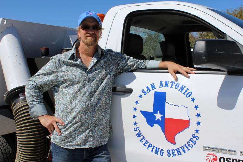 image: Brian Cooper, Owner of San Antonio Sweeping | Fleet Dashcam Case Study | The Dashcam Store Blog