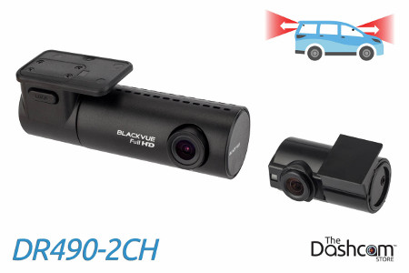 BlackVue DR490-2CH dash cam with dual 1080p resoultion for front and rear video recording
