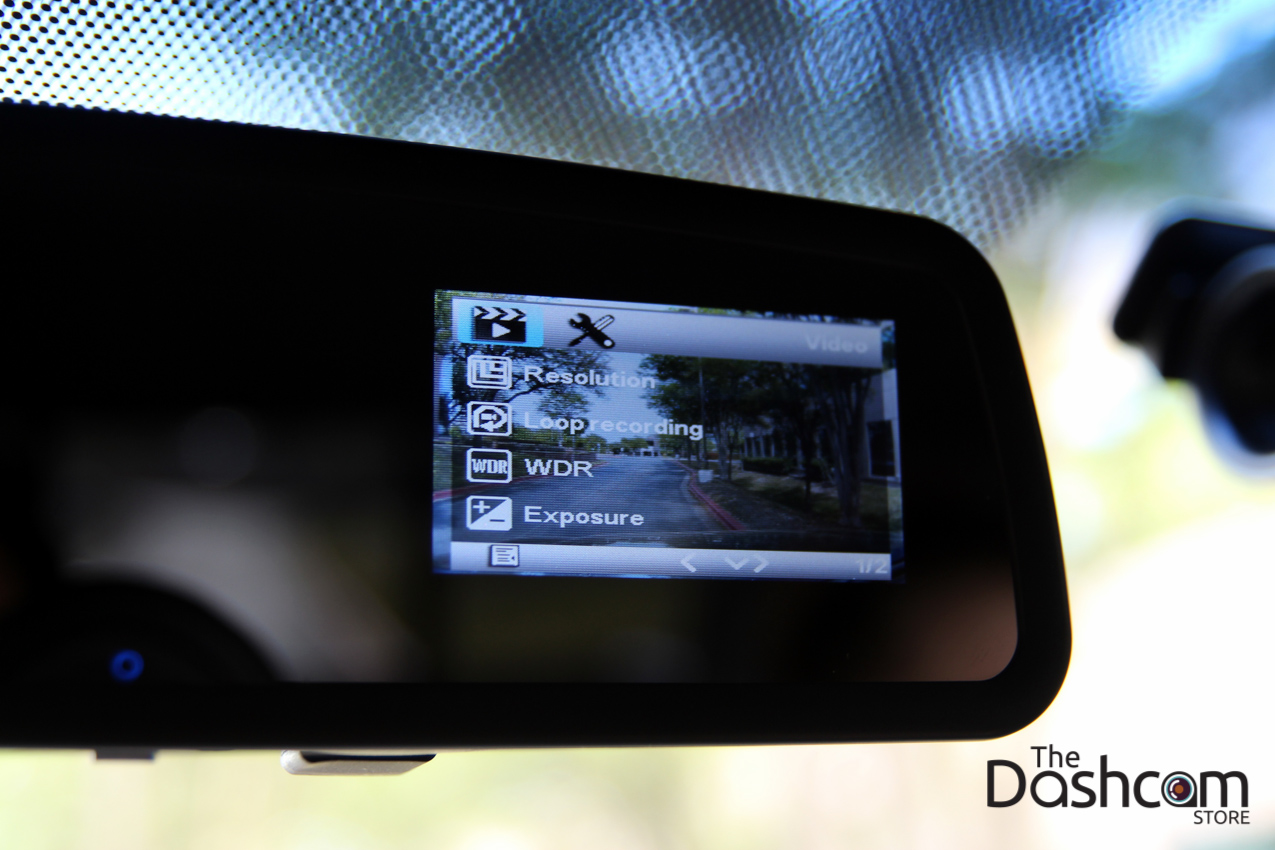 DVR-VC900 dash cam installed in car