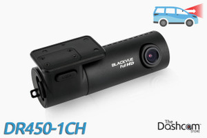 BlackVue DR450-1CH GPS-Ready 1080p Single Lens Dash Cam w/ 128gb Memory Card Support | For Front Video Recording