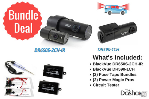 BlackVue DR650S-2CH-IR + DR590-1CH | The Ultimate Rideshare Dashcam Bundle