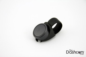 Waylens Horizon Bluetooth Remote Control Trigger Button | Shown with included steering wheel strap